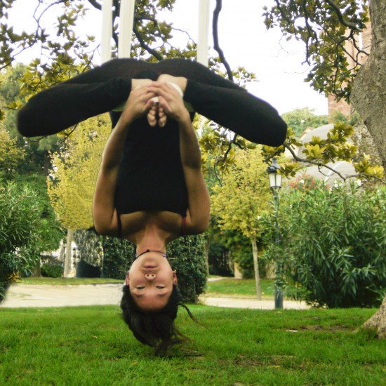baddha konasana upside down