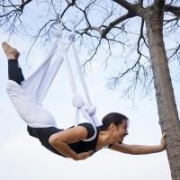 Amaca di yoga aereo antigravity con maniglie