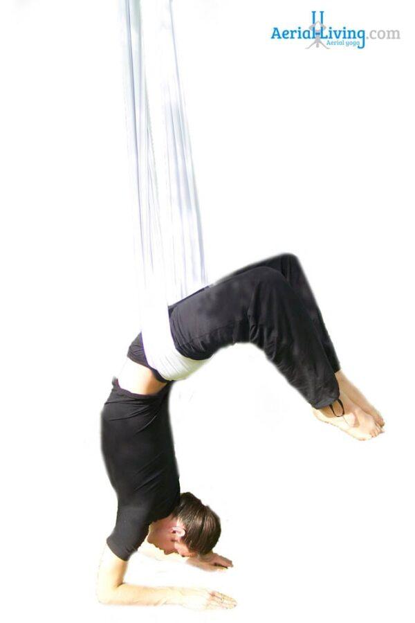 asana escorpion aerial yoga swing