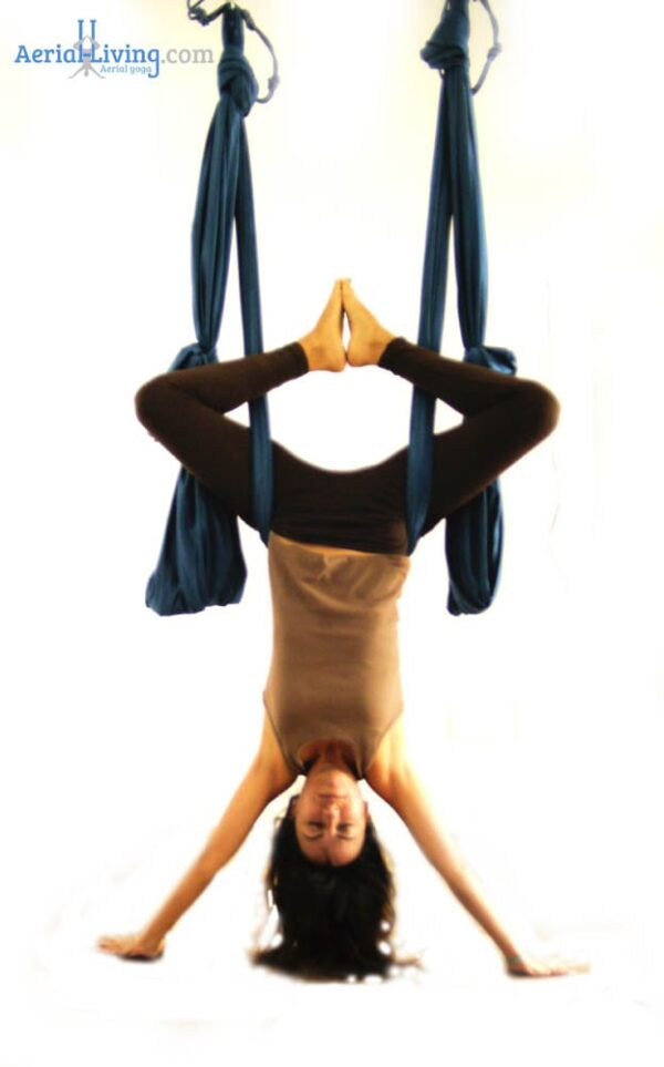 inversion in aerial yoga swing