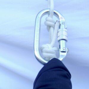 carabiner yoga swing