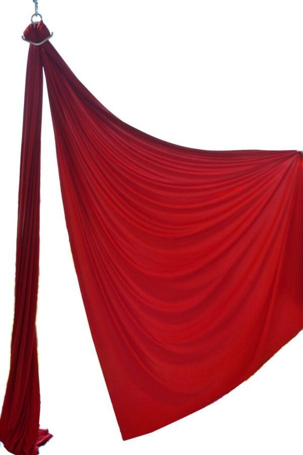 buy red aerial silk , roja tela acrobatica, compra tela acrobatica