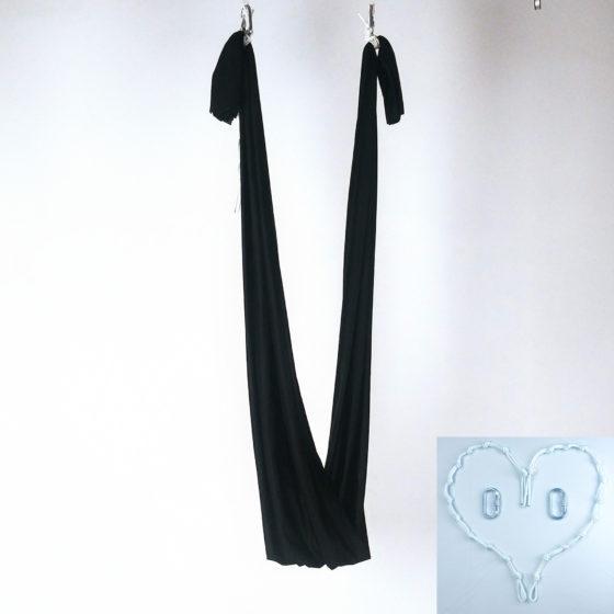 black yoga hammock