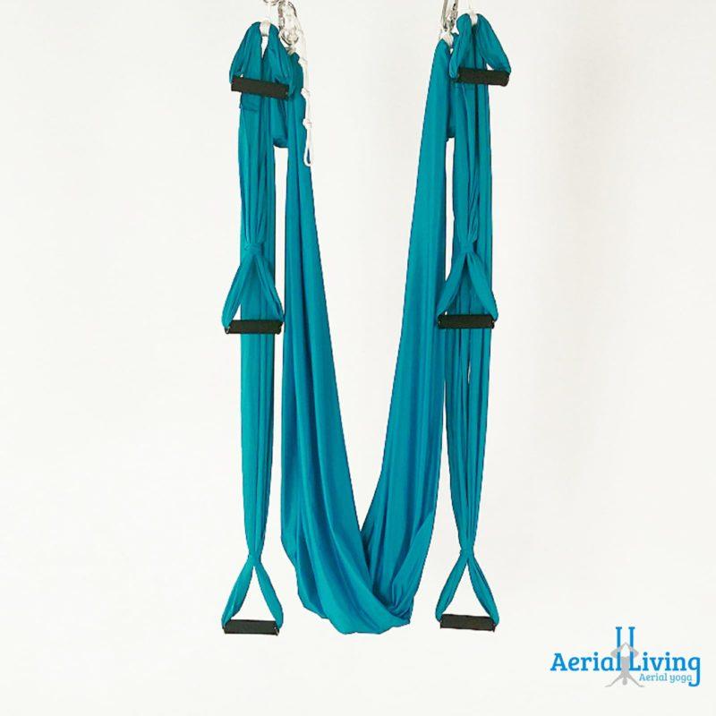 aerial yoga hammock with stirrups