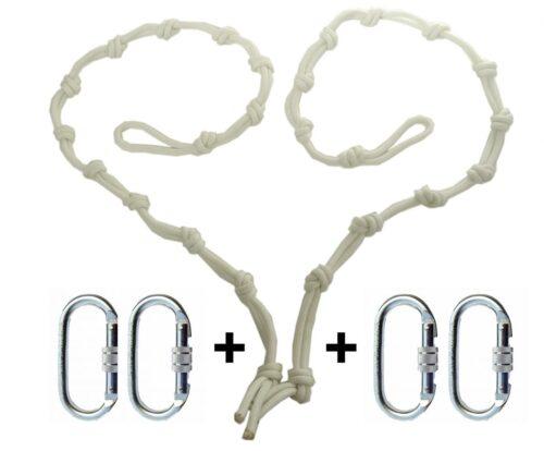 corde per appendere le amache di yoga aereo antigravity e moschettoni