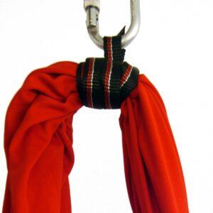 Sangle polyamide pour fixer mousqueton au hamac de yoga aérien
