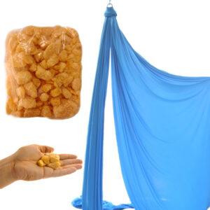 Resin for aerial silks, resina para telas aereas, pece per tessuti aerei