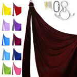 aerial silks professional kit bordeux