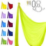 kit pro telas acrobaticas amarillo fluor