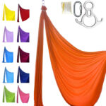 orange aerial silk professional kit