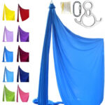 professional aerial silk french blue
