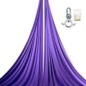 aerial silks with swivel, tessuti aerei con anello girevole, telas aereas con giravueltas, kit tissu acrobatique