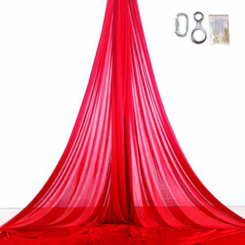 red aerial silks, tessuti aerei rossi, telas acrobacia aérea rojas, tissu aérien rouge