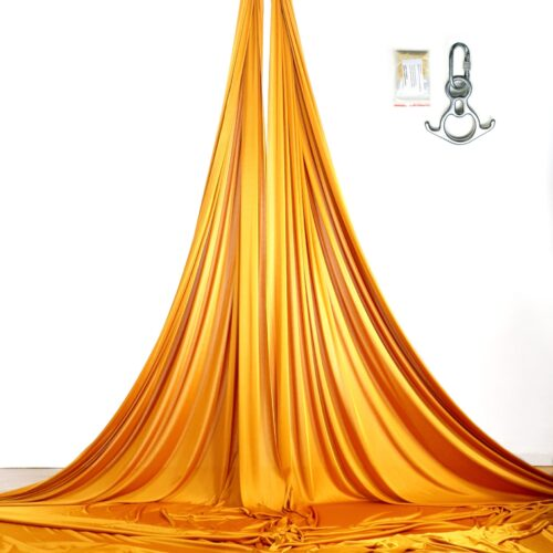 gold aerial silks and accessorise