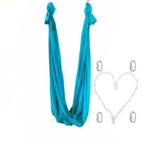 HAMAC POUR YOGA AÉRIEN turquoise