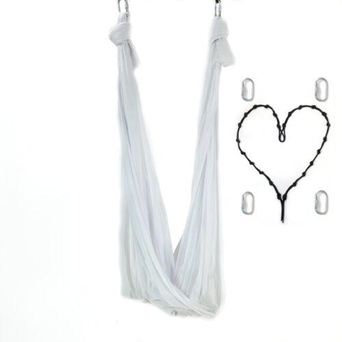 aerial yoga hammock white