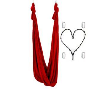 Hamac Yoga Aérien Antigravité, amaca yoga antigravity rossa