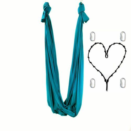 aerial yoga hammock blue petrol