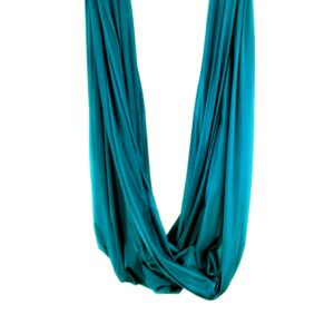 blue petrol aerial yoga swing, tessuti amaca yoga aereo, tela hamaca yoga aéreo