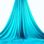 turquoise aerial silks