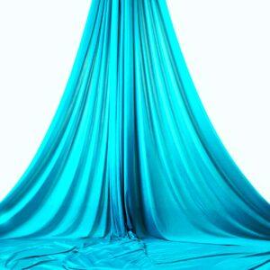 turquoise aerial silks, telas aéreas turquesa, tessuti aerei turchesa, tissu aérien turquoise