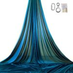 blue petrol on stage aerial silks