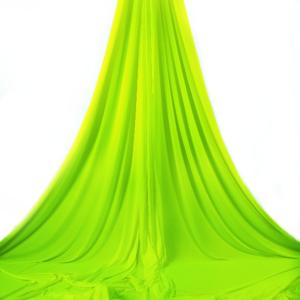 fluo aerial silks, tessuti aerei giallo fluorescente